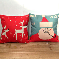 New Year Comfortable Bedroom Cushion Cotton Linen Christmas Gifts Pillow Case [9647087823]