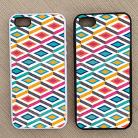 Cute Abstract Geometric Pattern iPhone Case, iPhone 5 Case, iPhone 4S Case, iPhone 4 Case - SKU: 232