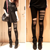 Hot Women Slim Sexy Leggings Hollow Bandage Leggings Tights Pants Skinny Pants