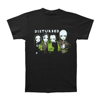 Disturbed Men's  Midnight Glow In The Dark T-shirt Black Rockabilia
