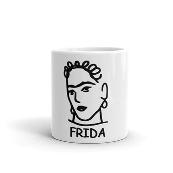 Frida Kahlo Coffee Mug - Mexican artist Frida Kahlo Mug