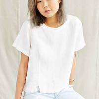 Vintage White Linen Cropped Top- Assorted One