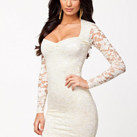 L/S Lace Dress Nelly Exclusive