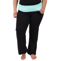 Plus Size Cotton Yoga Pants