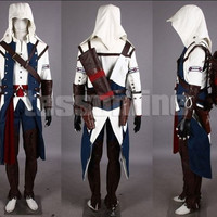 Assassin's Creed III Connor Kenway Anime Cosplay Costume Men Women Children Gift