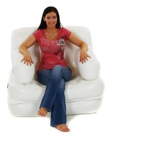 Smart Air Beds 5 X 1 Inflatable Chair (Single, White)