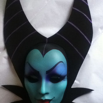 Maleficent Mask, Evil Queen, Sleeping Beauty...HandMade/ Painted- Disney inspired