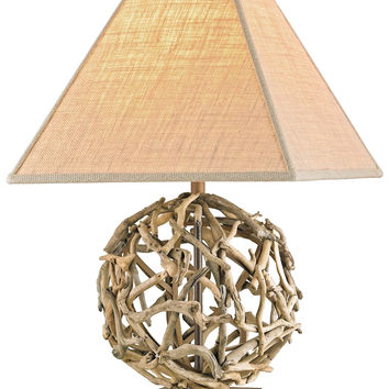 Currey Company Driftwood Sphere Table Lamp