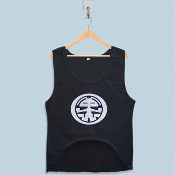 Women's Crop Tank - Rabbit in The Moon Logo