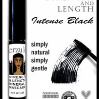 Mineral Makeup Mascara in INTENSE BLACK Gentle Organic Eco-Certified with Pro-Vitamin B5 and Plant Proteins Gluten Free
