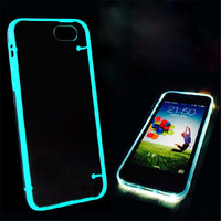 "New Arrival Ultra Thin Transparent Crystal Clear phone cases for iphone 5 5S 5G 6 4.7""  Fluorescent Luminous phone back housing"