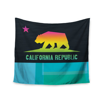 "Fimbis ""California"" Multicolor Teal Wall Tapestry"