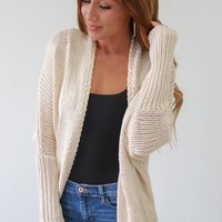 Blessing In Disguise Cardigan - Sand