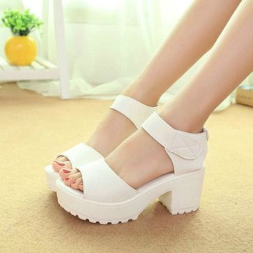 Big Size 35-41 Fashion Party Shoes Woman Sexy High Heels Summer Pumps Ankle Strap Sand