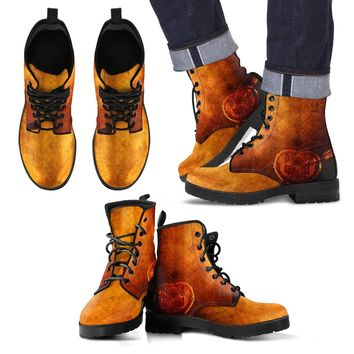 Steampunk Men's Leather Boots