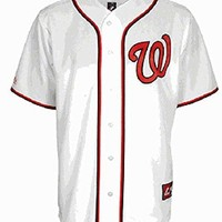 Washington Nationals Embroidered Home Replica Baseball Jersey by Majestic