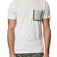 On The Byas Dante Space Dye Pocket T-Shirt - Mens Tee - Natural