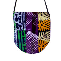 Messenger Bag - African Batik - Patchwork - Support the Deaf in Ghana
