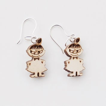 Moomin Wooden Earrings, Little My by Showroom Finland