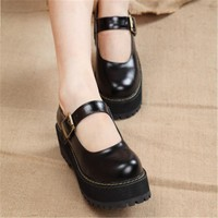 Mary Jane Ankle Strap Platforms