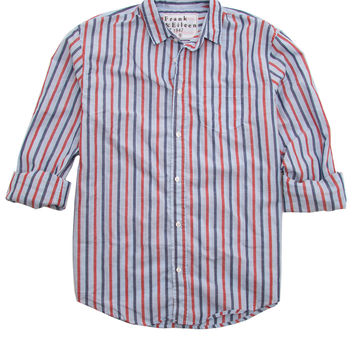 Frank & Eileen Luke Red and Blue Stripe Poplin Shirt