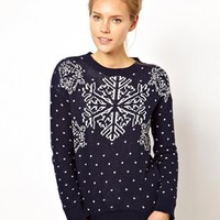 Club L Snowflake Sweater