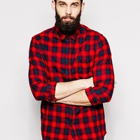 New Look Long Sleeve Shirt with Check
