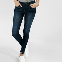 Petite Mid Rise Dark Stretch Jean Legging