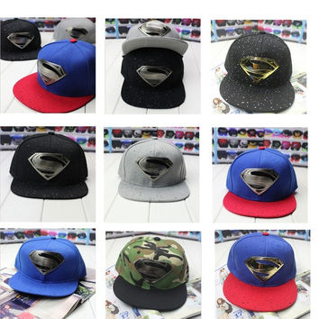 Many Style Unisex Superman Hip-hop Baseball Cap Adjustable Snapback Peak hat Hot = 1946632324