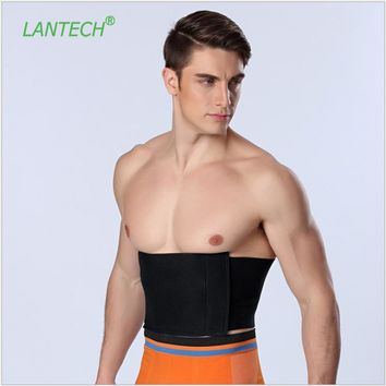 LANTECH Men Waist Trainer Steel Bone Vest Body Shaper Tummy Tuck Belt Weight Loss Corset Belly Reducer Stomach Belt Hot Shapers