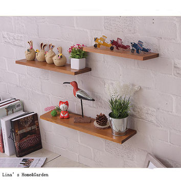 Vintage Wood Floating Shelves Set - 3 colors