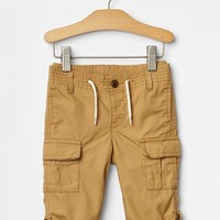 Pull On Roll Up Cargo Pants