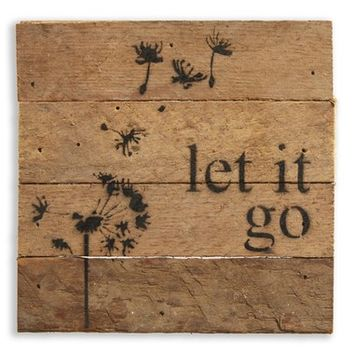 Second Nature by Hand 'Let It Go' Wood Wall Art | Nordstrom