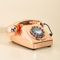 Ring True Desk Phone in Rose Gold | Mod Retro Vintage Electronics | ModCloth.com