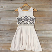 Stone Spell Beaded Dress in Sand