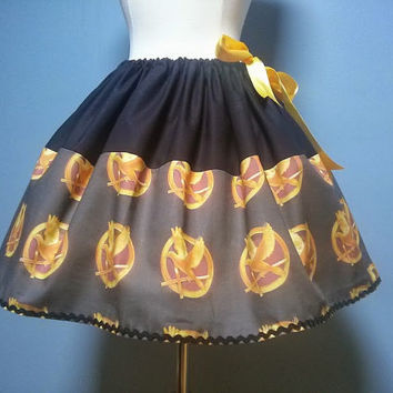 Hunger Games Skirt, Catching Fire, Mockingjay, Custom Fabric, Plus Size, All Sizes..AMAZING!