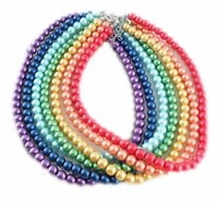 Free Shipping New Pretty Artificial Pearls Necklace 42cm Long Gifts for Women