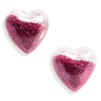 Topshop Glitter Shake Heart Earrings | Nordstrom