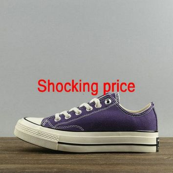 2018 New Arrival Women Converse Chuck Taylor All Star 1970s Low Amaranth Purple White 157568C fashion shoe