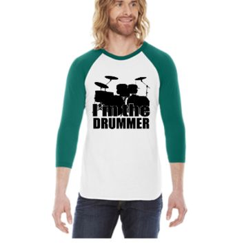 I'm The Drummer HD Design -  3/4 Sleeve Raglan Shirt