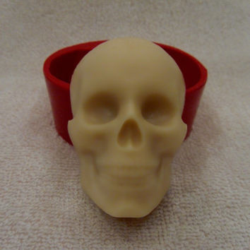 Skull - silicone mold for soap and candles making mould molds halloween
