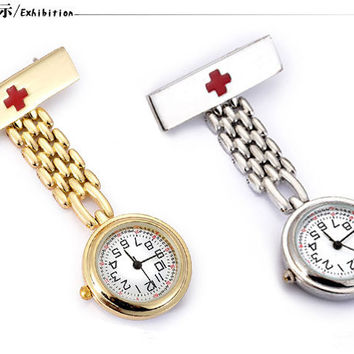 Beautiful Nurse Watch Elegant Pocket & Fob Watches Vintage Retro Style Watch Individuality Clock Gift
