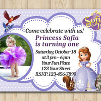 Sofia the first Invitation birthday custom printable file DIY(#44)