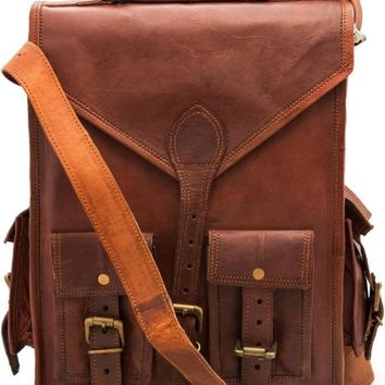 IN-INDIA Messenger bag and 15 L Laptop Backpack  (brown)