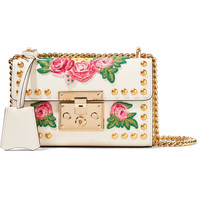 Gucci - Padlock small appliquéd studded leather shoulder bag