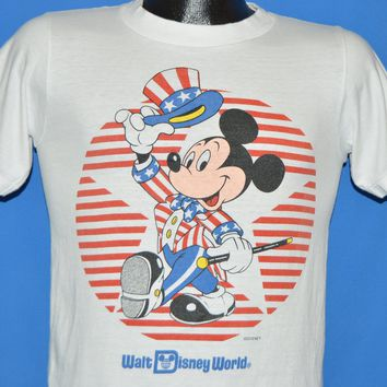 80s Mickey Mouse Uncle Same Disney World t-shirt Small