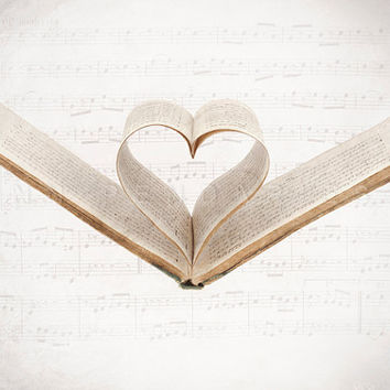 i love you print - Valentine - sheet music print - music note Photography Original Signed Numbered Fine Art Photography  5x7 (13x18cm)