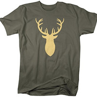 Shirts By Sarah Men's Deer Silhouette T-Shirt Hunter Shirts Hunting Buck