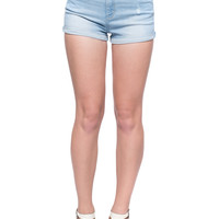 Light Wash High Waisted Denim Shorts