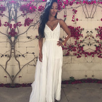 Long  Summer Chiffon Party Maxi Dress